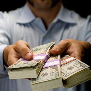 Hand in cash